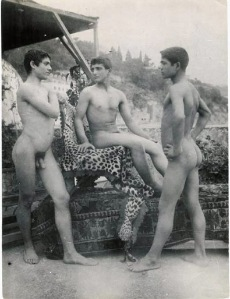Three nude boys