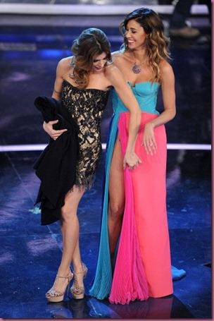Elisabetta and Belen at Sanremo festival