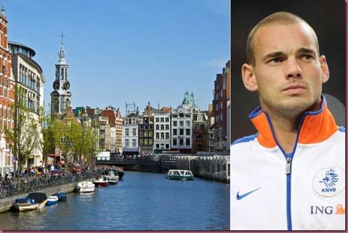 Amsterdam con Wesley Sneijder