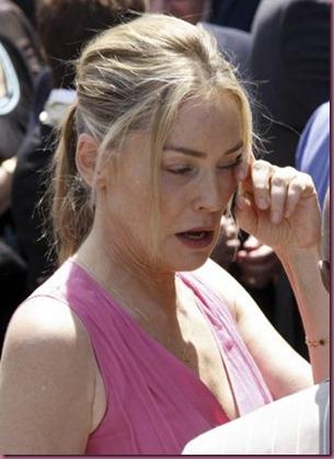Sharon Stone crying