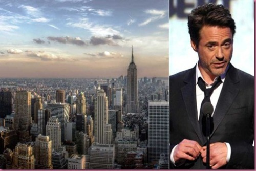 New York and Robert Downey Jr
