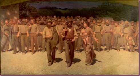 """The Fourth Estate"" by Giuseppe Pellizza da Volpedo"