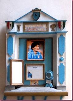 Religious display of Maradona in Naples