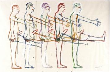 bruce-nauman-five-marching-men-1985