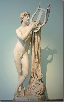 Statue d'Apollon, Musée archéologique de Naples, Italie