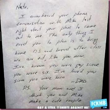 Nate's dad letter