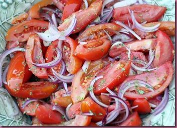 Tomato in salad