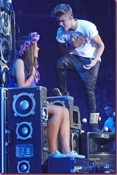 Justin Bieber in Bologna with Giorgia