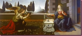 """Annunciation"" by Leonardo"